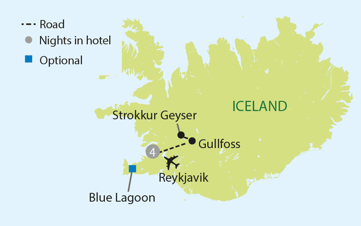 ICELANDIC SPLENDOURS tour map